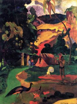 Landscape With Peacocks by Gauguin