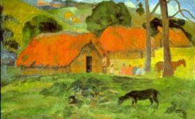 Le Trois Huttes by Gauguin