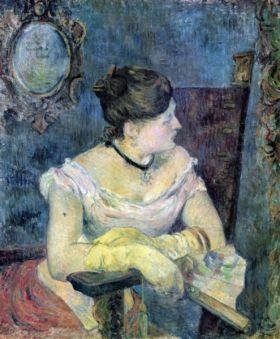 Madame Gauguin by Gauguin