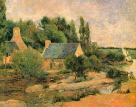 Washerwomen at Pont-Aven by Gauguin