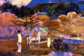 Woman an a White Horse by Gauguin