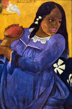 Woman with Mango by Gauguin