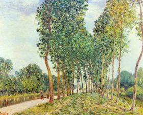 Brzegi Loing Moret -  Alfred Sisley - reprodukcja