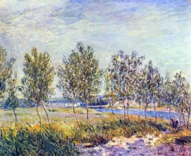 Łąka -  Alfred Sisley - reprodukcja