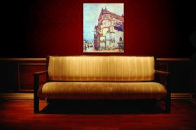 Kościół w Moret po deszczu - Alfred Sisley - reprodukcja