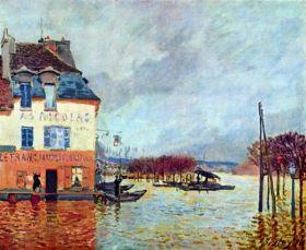 Powódź w Port Marly  - Alfred Sisley - reprodukcja