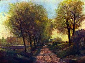 Droga w pobliżu małego miasteczka - Alfred Sisley - reprodukcja