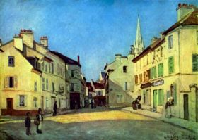 Plac w  Argenteuil - Alfred Sisley - reprodukcja