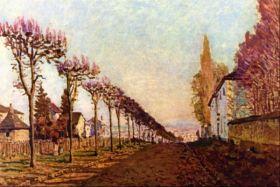 Aleja - Alfred Sisley - reprodukcja