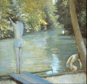 Kąpiący się - Gustave Caillebotte - reprodukcja