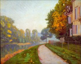 Brzeg rzeki - Gustave Caillebotte - reprodukcja