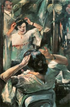 Before the mirror by Lovis Corinth