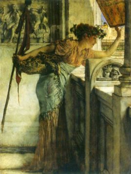 A Bacchantin – 'There he is!' by Alma-Tadema