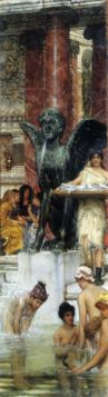 A bathroom (An ancient tradition) by Alma-Tadema