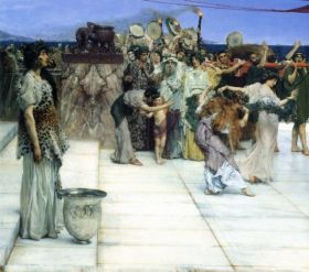 A consecration of Bacchus, detail 1 by Alma-Tadema