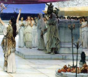 A consecration of Bacchus, detail 2 by Alma-Tadema