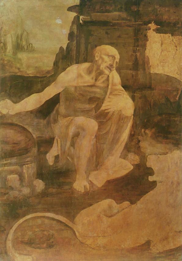 Leonardo da Vinci Swiety Hieronim Na _Pustyni obraz